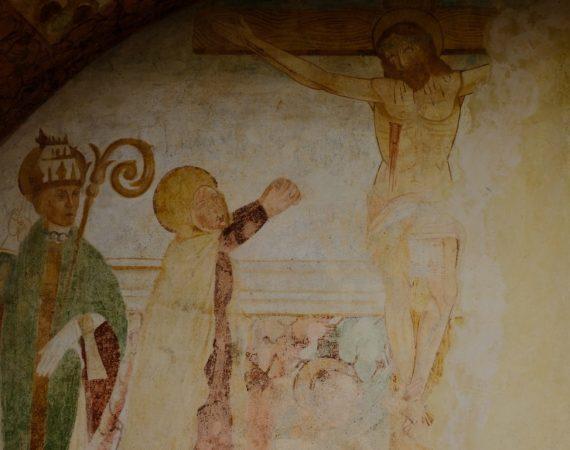 Chiesa di san Biagio - Affresco esterno 2