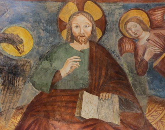 Chiesa di san Biagio - affresco Cristo col Vangelo