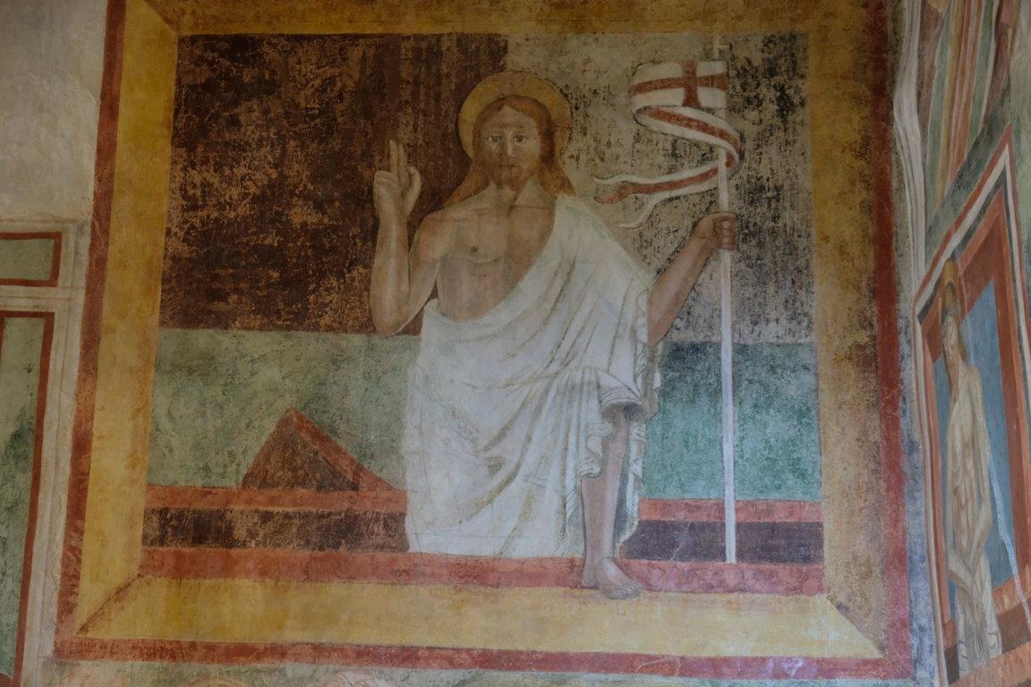 Chiesa di san Biagio - Affresco Cristo risorto